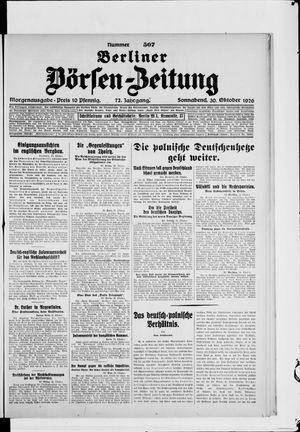 Berliner Börsen-Zeitung vom 30.10.1926
