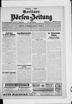 Berliner Börsen-Zeitung vom 31.10.1926