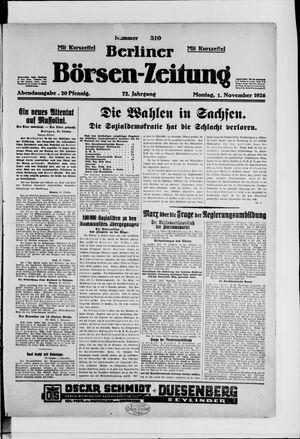 Berliner Börsen-Zeitung vom 01.11.1926