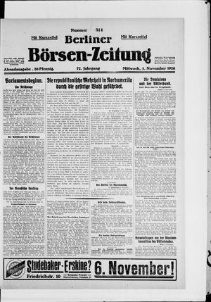 Berliner Börsen-Zeitung vom 03.11.1926
