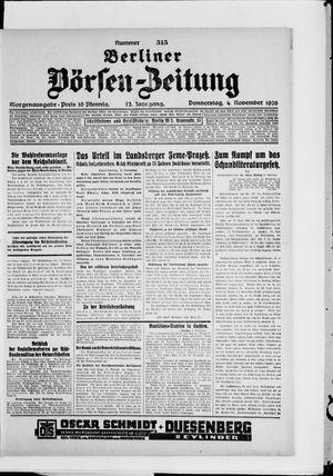 Berliner Börsen-Zeitung vom 04.11.1926