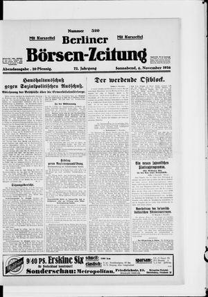 Berliner Börsen-Zeitung vom 06.11.1926