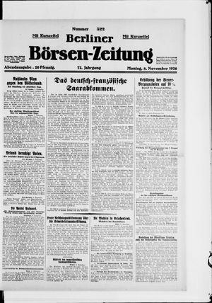 Berliner Börsen-Zeitung vom 08.11.1926