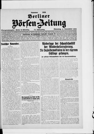 Berliner Börsen-Zeitung vom 09.11.1926