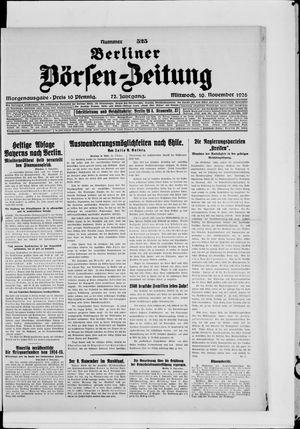 Berliner Börsen-Zeitung vom 10.11.1926