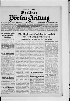 Berliner Börsen-Zeitung vom 11.11.1926