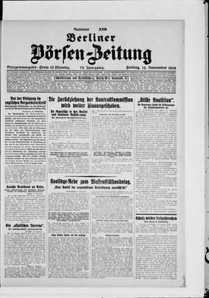 Berliner Börsen-Zeitung vom 12.11.1926