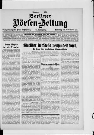 Berliner Börsen-Zeitung vom 14.11.1926