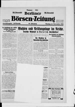 Berliner Börsen-Zeitung vom 15.11.1926