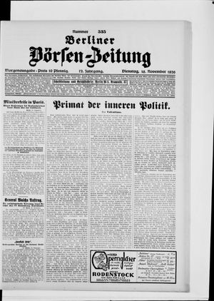 Berliner Börsen-Zeitung vom 16.11.1926