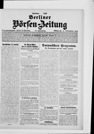 Berliner Börsen-Zeitung vom 17.11.1926