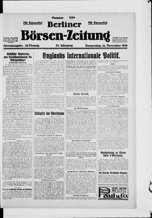 Berliner Börsen-Zeitung vom 18.11.1926