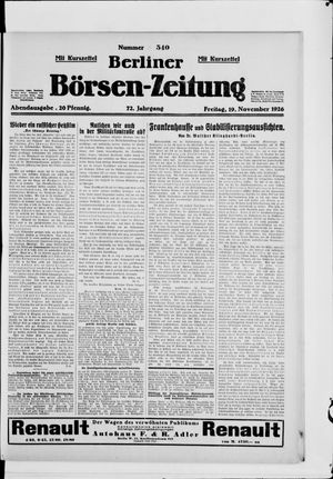 Berliner Börsen-Zeitung vom 19.11.1926