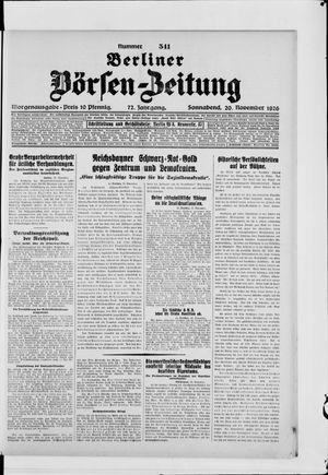 Berliner Börsen-Zeitung vom 20.11.1926