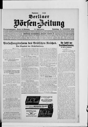 Berliner Börsen-Zeitung vom 21.11.1926