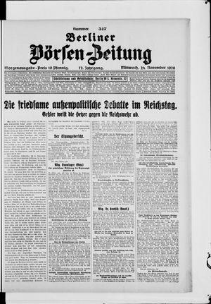 Berliner Börsen-Zeitung vom 24.11.1926