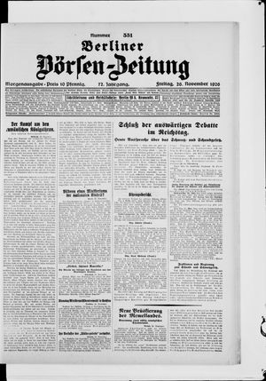 Berliner Börsen-Zeitung vom 26.11.1926