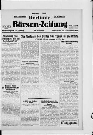 Berliner Börsen-Zeitung vom 27.11.1926