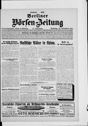 Berliner Börsen-Zeitung vom 28.11.1926