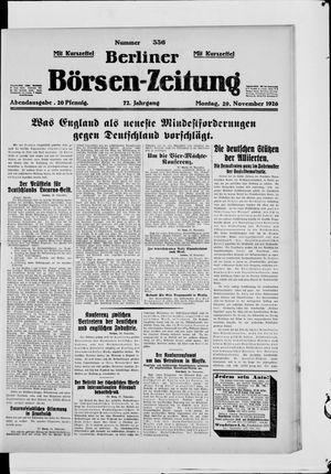 Berliner Börsen-Zeitung vom 29.11.1926