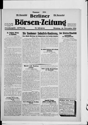 Berliner Börsen-Zeitung vom 30.11.1926