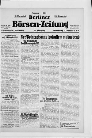 Berliner Börsen-Zeitung vom 02.12.1926