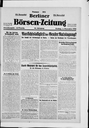 Berliner Börsen-Zeitung vom 03.12.1926
