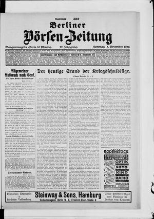 Berliner Börsen-Zeitung vom 05.12.1926