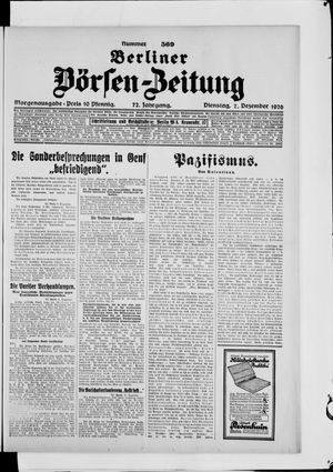 Berliner Börsen-Zeitung vom 07.12.1926