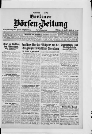 Berliner Börsen-Zeitung vom 08.12.1926
