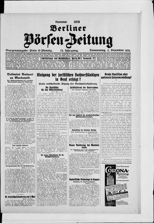 Berliner Börsen-Zeitung vom 09.12.1926