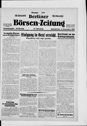 Berliner Börsen-Zeitung vom 11.12.1926