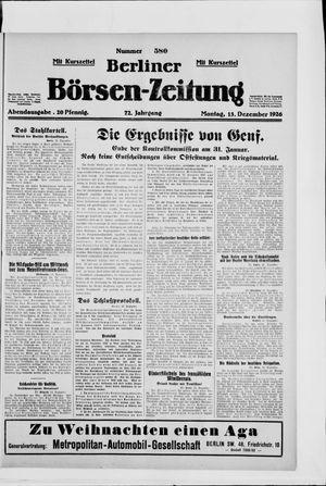 Berliner Börsen-Zeitung vom 13.12.1926