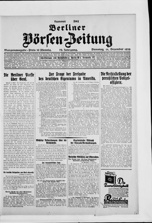 Berliner Börsen-Zeitung vom 14.12.1926