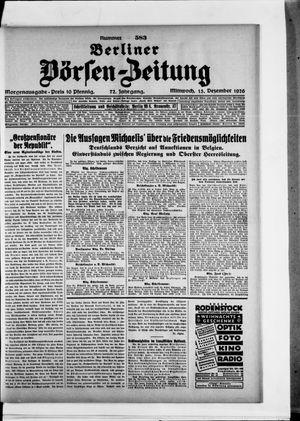 Berliner Börsen-Zeitung vom 15.12.1926