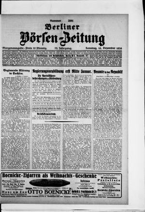 Berliner Börsen-Zeitung vom 19.12.1926