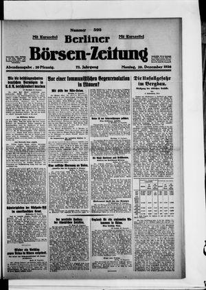 Berliner Börsen-Zeitung vom 20.12.1926