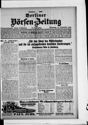 Berliner Börsen-Zeitung vom 21.12.1926