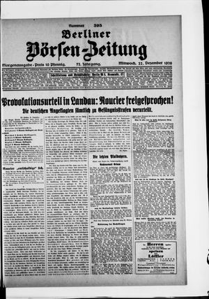 Berliner Börsen-Zeitung vom 22.12.1926