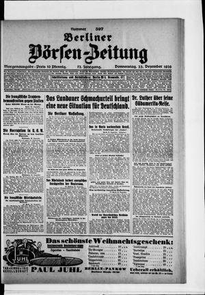 Berliner Börsen-Zeitung vom 23.12.1926