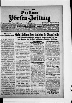 Berliner Börsen-Zeitung vom 24.12.1926