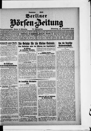 Berliner Börsen-Zeitung vom 28.12.1926