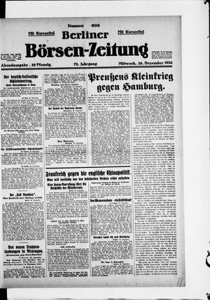 Berliner Börsen-Zeitung vom 29.12.1926