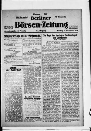 Berliner Börsen-Zeitung vom 31.12.1926