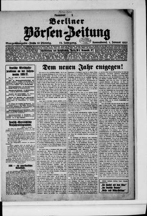 Berliner Börsen-Zeitung vom 01.01.1927