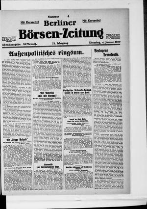 Berliner Börsen-Zeitung vom 04.01.1927