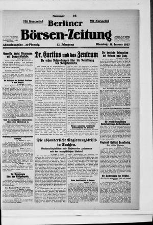 Berliner Börsen-Zeitung vom 11.01.1927
