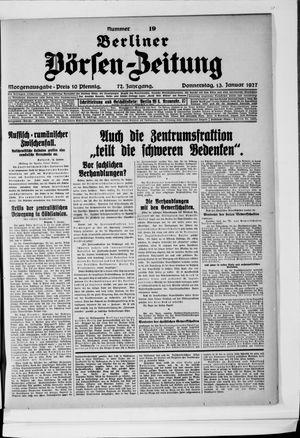 Berliner Börsen-Zeitung vom 13.01.1927