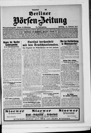 Berliner Börsen-Zeitung vom 14.01.1927