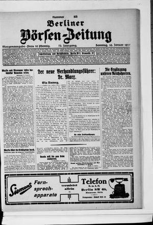 Berliner Börsen-Zeitung vom 16.01.1927